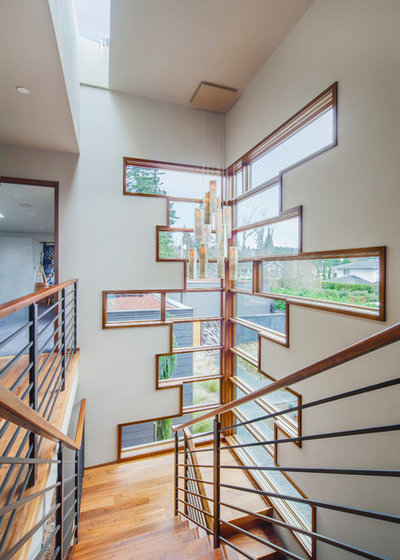 Contemporary Staircase by Prentiss Balance Wickline Architects