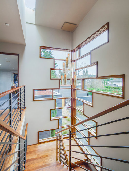 Steel banister home design ideas pictures remodel and decor for Cool window designs