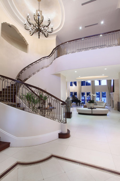 Mediterranean Staircase by W.A. Bentz Construction, Inc.