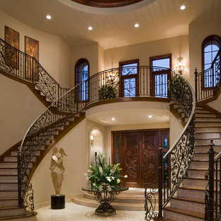 Example of a huge tuscan staircase design in Miami