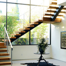 Contemporary Staircase by ADEET MADAN HOME DESIGNE
