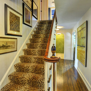 Example Of A Classic Wooden Straight Staircase Design In Other