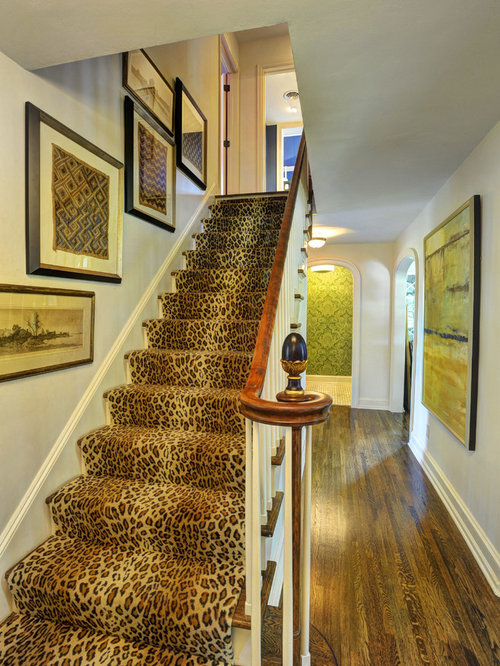 Superior Example Of A Classic Carpeted Straight Staircase Design In Other