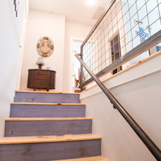 Contemporary Staircase by Modern Craft Construction, LLC