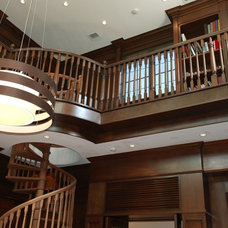 Traditional Staircase by Stair Builders of South Florida