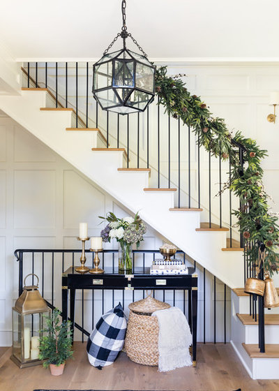 Transitional Staircase by Anna Hudson Photography