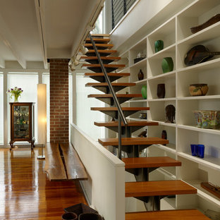 Diseño de escalera recta actual