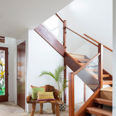 Contemporary Staircase by Graham Builders