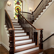 Traditional Staircase by Brickmoon Design