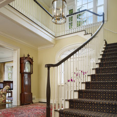 Traditional Staircase by Charter Construction