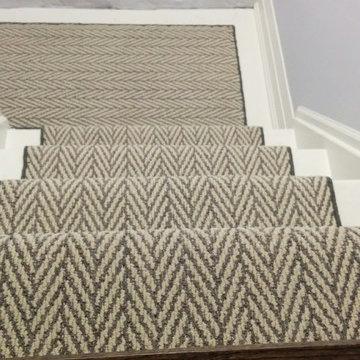 Herringbone Design Stair Carpet Runner
