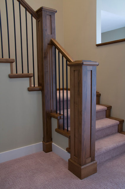 Craftsman Staircase by OK Woodcrafters Co.