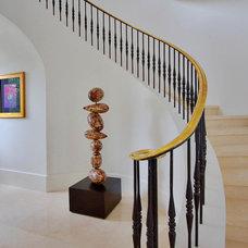 Mediterranean Staircase by CMA Design Studio Inc