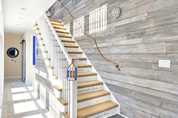 Beach Style Staircase by Echelon Custom Homes