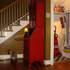 traditional staircase Hidden Cat Retreat