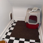 Clever Kitty Door to Hidden Litter Box - Transitional - Laundry Room - orange county - by ...