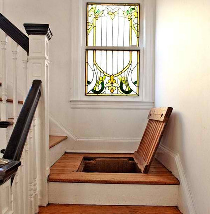 Eclectic Staircase hidden space