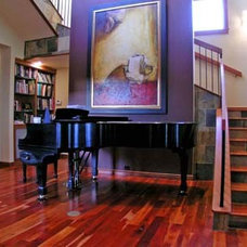 Contemporary Staircase by Patrick Landrum Design