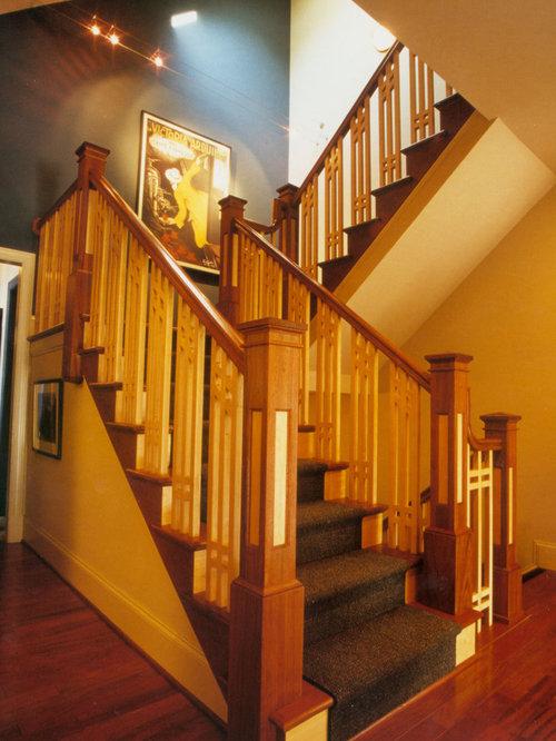 Craftsman Stair Railing Houzz