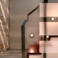 Contemporary Staircase by McCoubrey/Overholser, Inc.