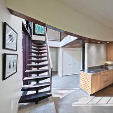Modern Staircase by Kariouk Associates