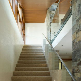 This is an example of a rustic staircase in San Francisco.