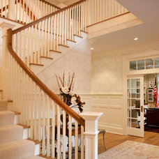 Traditional Staircase by James Schettino Architects