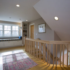 traditional staircase by SAVOIE Architecture