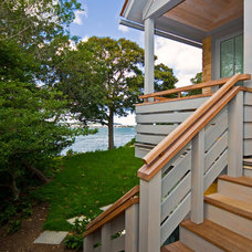 Beach Style Staircase by Breese Architects