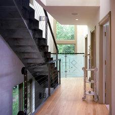Contemporary Staircase by Hirsch Associates LLC