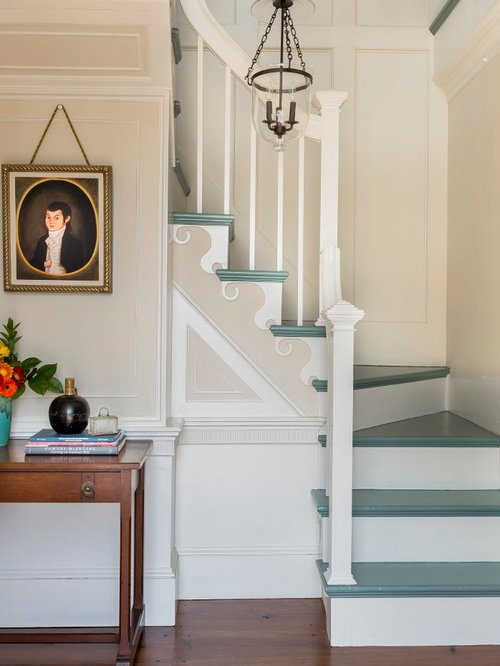 Painted Stair Treads Houzz