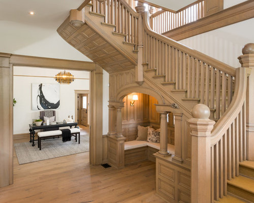 staircase designs for homes. Inspiration for a timeless wooden u shaped wood railing staircase remodel  in Los Angeles Traditional Staircase Ideas Designs Remodel Photos Houzz