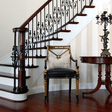 Traditional Staircase by Stephen Shutts Design
