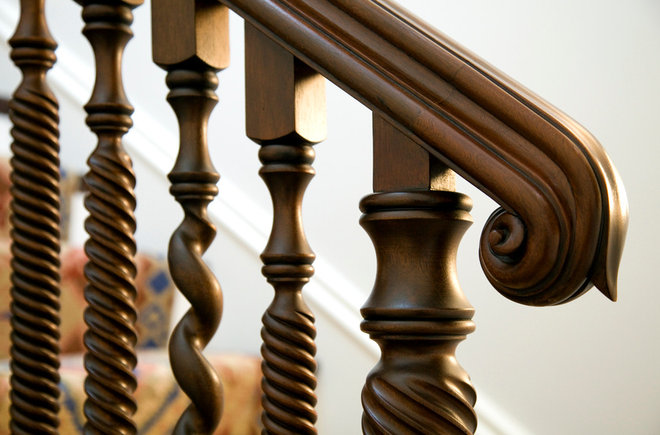 Traditional Staircase by S+H Construction