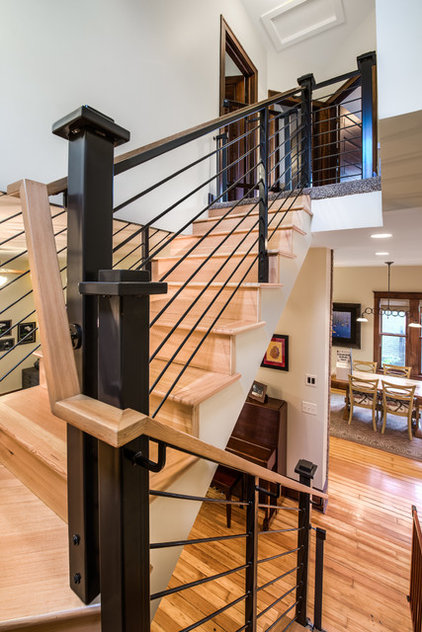 transitional staircase by HighCraft Builders