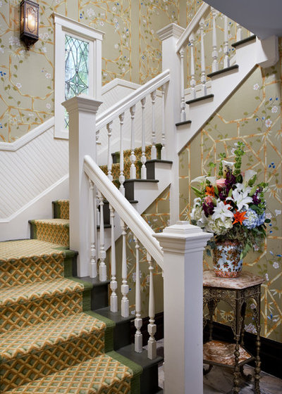 Traditional Staircase by Valerie M Interiors