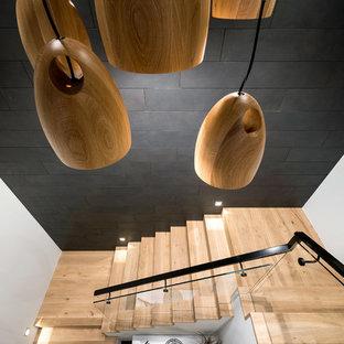 パースの北欧スタイルのおしゃれな階段の写真