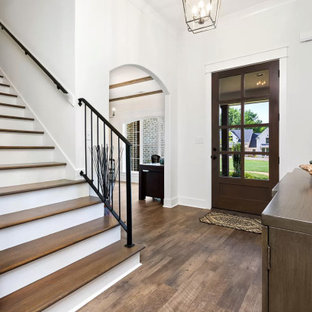 Inspiration for a french country staircase remodel in Other