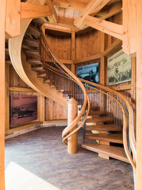 Houzz Farmhouse Floating Staircase Design Ideas