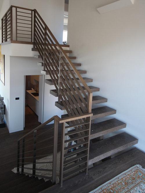 Interior horizontal steel railing systems