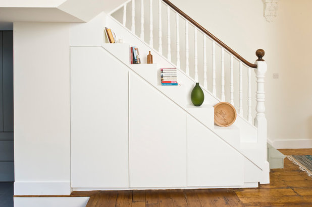 Contemporary Staircase by Jane Higgins Home Design
