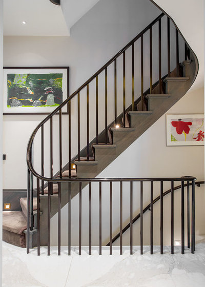 Contemporary Staircase by TLA Studio