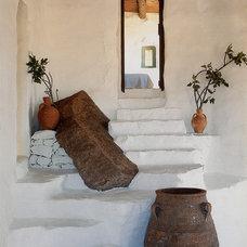 Mediterranean Staircase by Deborah French Designs