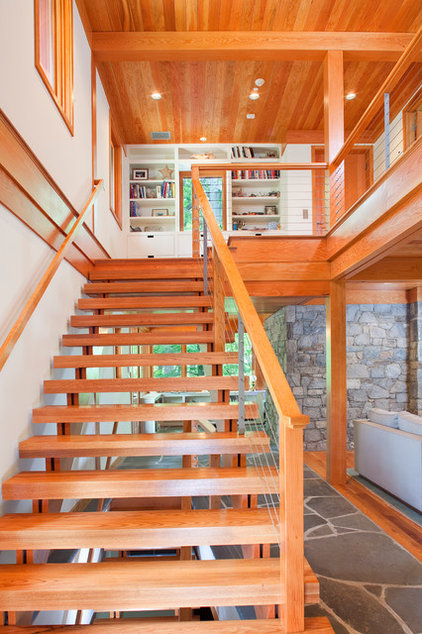 Eclectic Staircase by Rill Architects