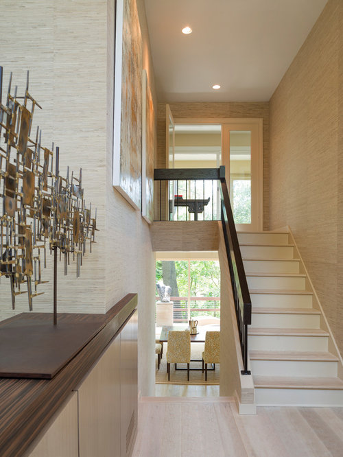 Modern House Foyer Designs : Split level stairs home design ideas renovations photos