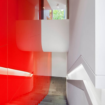 House with a Red Wall