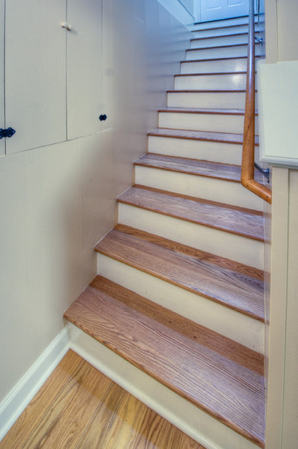 Transitional Staircase by HOUSEworks Design/Build General Contractor