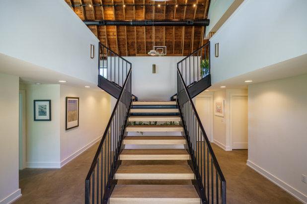Farmhouse Staircase by Franklin & Associates - Design/Build