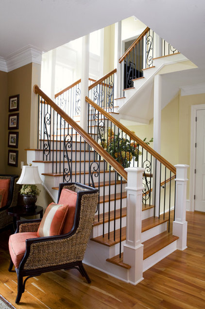 Traditional Staircase by Max Crosby Construction