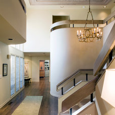 Transitional Staircase by Kaufman Homes, Inc.